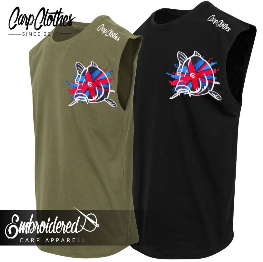 011 EMBROIDERED SLEEVELESS T-SHIRT